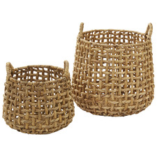 2 Piece Anguila Water Hyacinth Basket Set