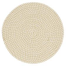 Hudson Round Cotton & Jute Placemat