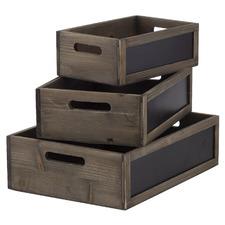 3 Piece Blackboard Wooden Box