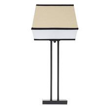 Alba Metal & Raffia Table Lamp
