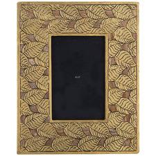 Natural & Gold Sarai Mango Wood Photo Frame