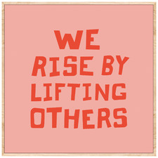 Lifting Others Framed Canvas Wall Art