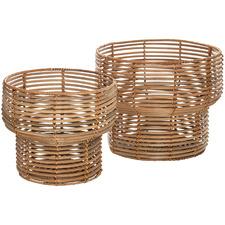 2 Piece Natural Isla Rattan Basket Set
