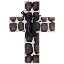 Black & White Alejandro Cross Cement Wall Accent