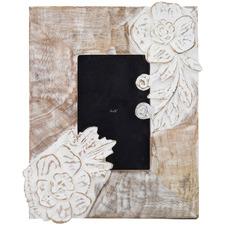 """White Washed Arabella 4 x 6"""" Mango Wood Photo Frame"""