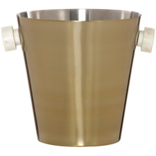 Gold Renzo Stainless Steel & Marble Champagne Bucket