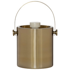 Gold Renzo Stainless Steel & Marble Ice Bucket