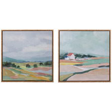 Bourgade Framed Canvas Wall Art Diptych