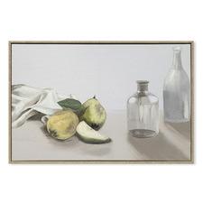 Still Life with Bottles 1 Framed Canvas Wall Art