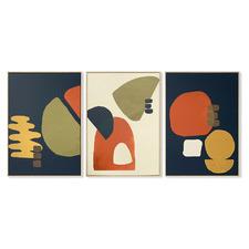 Atilier Framed Canvas Wall Art Triptych