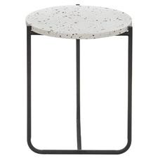 Kittie Metal & Terrazzo Side Table