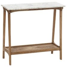 Fullerton Marble & Acacia Wood Console Table