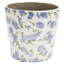 Cornflower Glazed Ceramic Planter