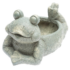 Lounging Frog Planter