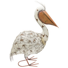 Filigree Pelican Metal Garden Ornament