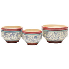 3 Piece Tempestini Ceramic Planter Set