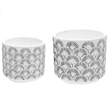 2 Piece Romona Ceramic Planter Set
