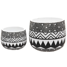 2 Piece Lola Ceramic Planter Set
