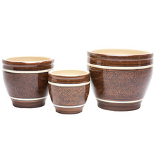 3 Piece Engel Ceramic Planter Set