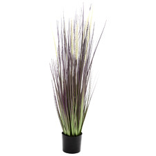 90cm Potted Faux Brown & Green Dogtail Grass