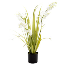 80cm Potted Faux Bellflower Grass