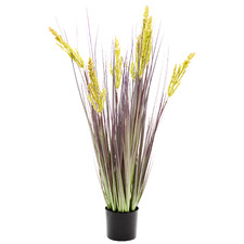 90cm Potted Faux Grain Grass