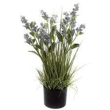 65cm Potted Faux Purple Lavender Grass