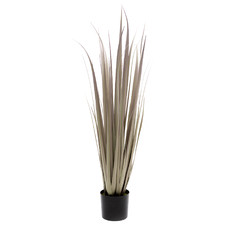 90cm Potted Faux Purple Gladiolus Grass