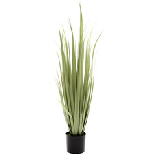 90cm Potted Faux Green Gladiolus Grass