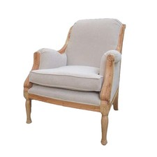Mahogany Upholstered French Chair