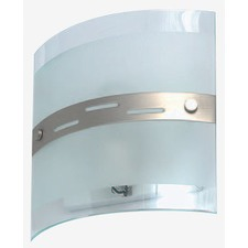 Square Curved Glass Incandescent Wall Light