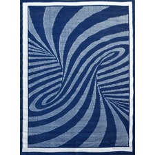 Modern Outdoor Rug Chatai in Navy