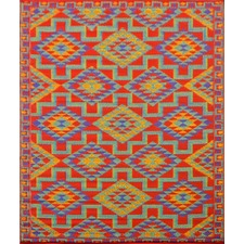 Modern Outdoor Rug Chatai in Rust