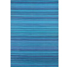 Blue Chatai Rongoli Reversible Indoor Outdoor Rug
