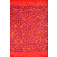 Red Chatai Peacock Reversible Indoor Outdoor Rug