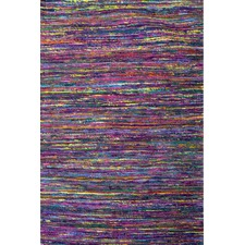 Purple Sari Hand Woven Silk-Blend Rug