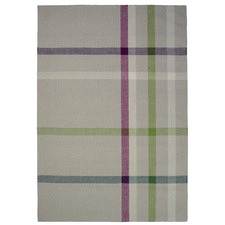 Chequered Kambal Woven Wool-Blend Rug