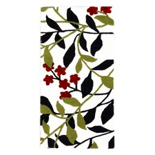Ivory & Green Halb Botanical Wool-Blend Rug