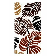 Ivory & Terracotta Halb Botanical Wool-Blend Rug