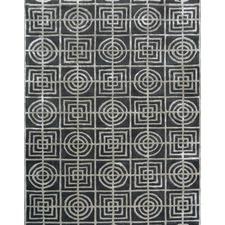 Grey Decotex Hand Made Wool-Blend Rug