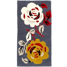 Dark Grey Halb Botanical Wool-Blend Rug