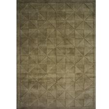 Triangle Evening Haze Wool & Cotton Rug