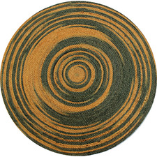Grey & Gold Salvador Hand Made Round Rug