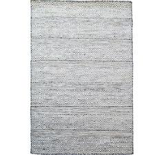 White & Black Desi Hand Woven Wool & Silk Runner
