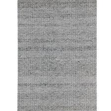 Grey Khalid Reversible Wool & Art Silk Rug