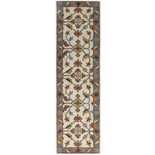 Grey & Cream Hanette Kashan Wool-Blend Runner