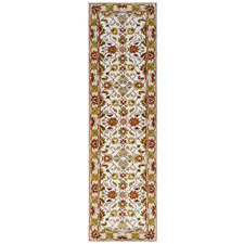 Ivory & Cream Kashan Wool-Blend Runner