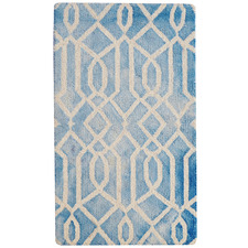 Aqua Maryland Hand-Woven Wool-Blend Rug