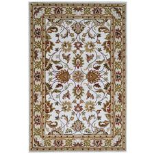 Ivory & Cream Kashan Wool-Blend Rug