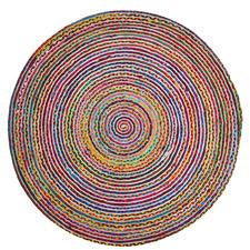 Multi-Coloured Gola Round Rug